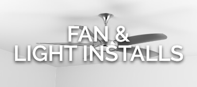 A fan on a ceiling.