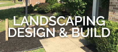Landscaping picture with words and link to portfolio